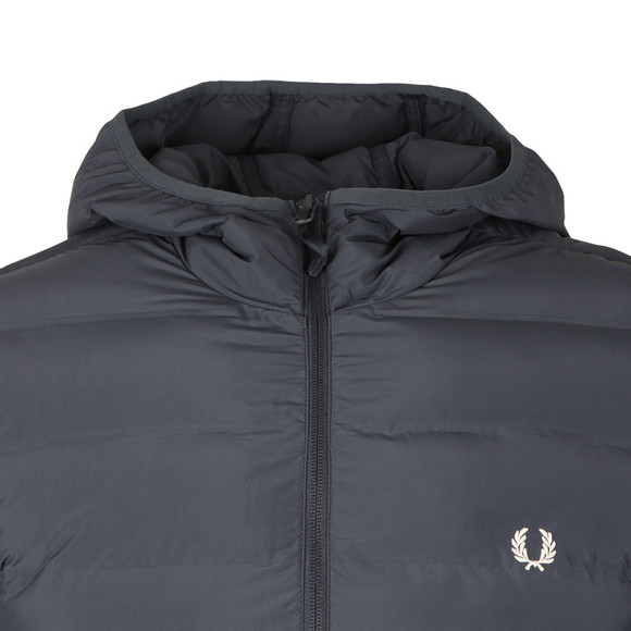 Fred Perry Mens Blue Insulated Hooded Brentham main image
