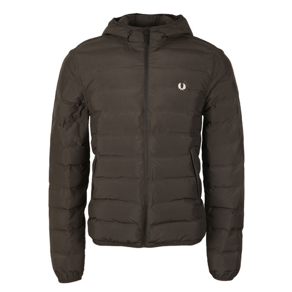 Fred Perry Mens Black Insulated Hooded Brentham main image
