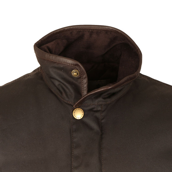 Barbour Lifestyle Mens Brown Prestbury Wax Jacket main image