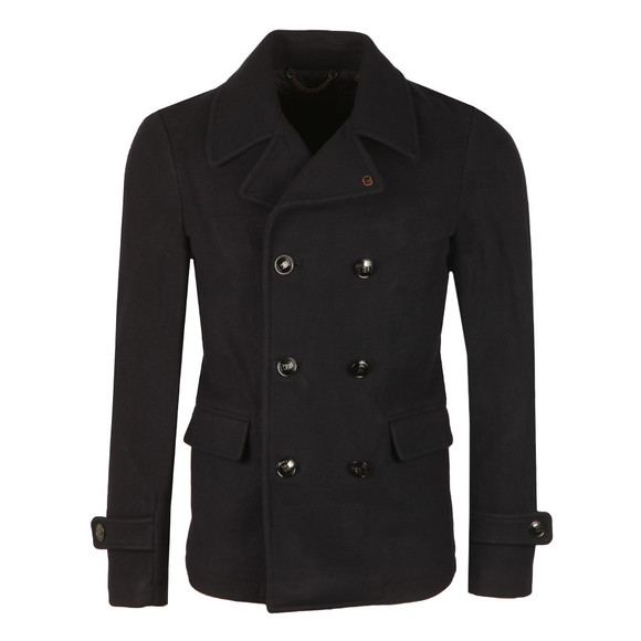 Scotch & Soda Mens Blue Double Breasted Wool Coat main image