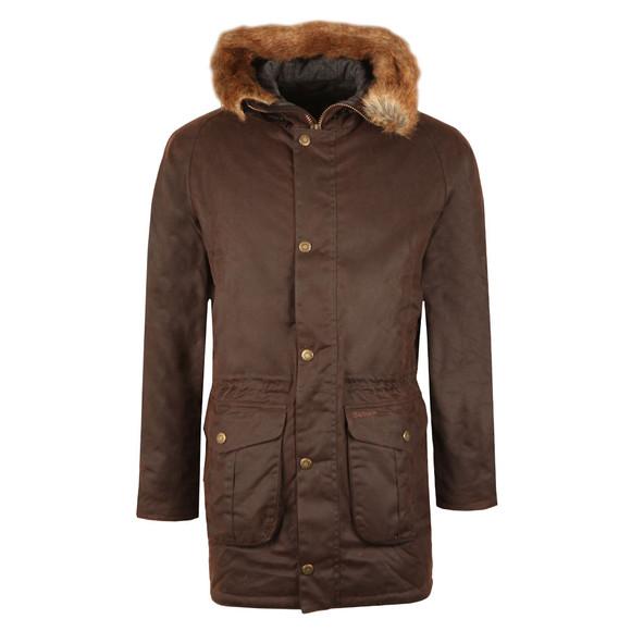 Barbour Lifestyle Mens Brown Wax Gisburne Jacket main image