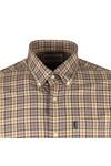 Barbour Lifestyle Mens Grey Malcolm Classic Tartan Shirt