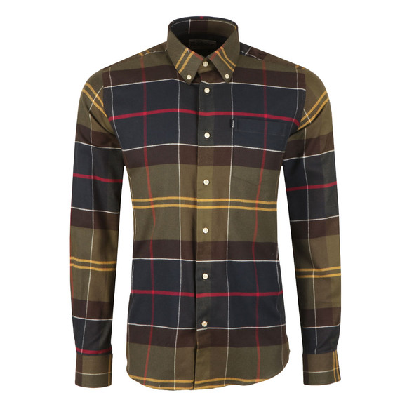 Barbour Lifestyle Mens Green L/s John Shirt main image