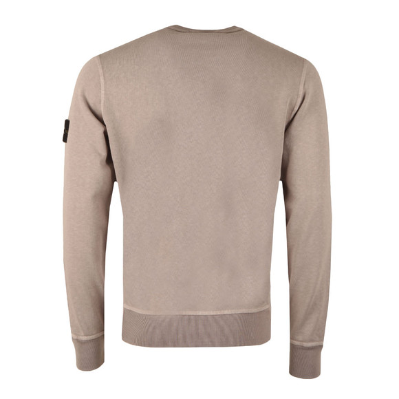 Stone Island Mens Grey Washed Crew Neck Sweatshirt main image