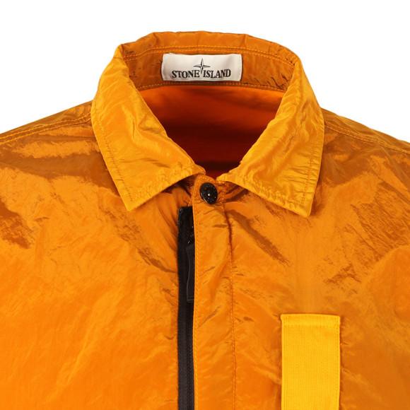 Stone Island Mens Orange Nylon Metal Overshirt main image