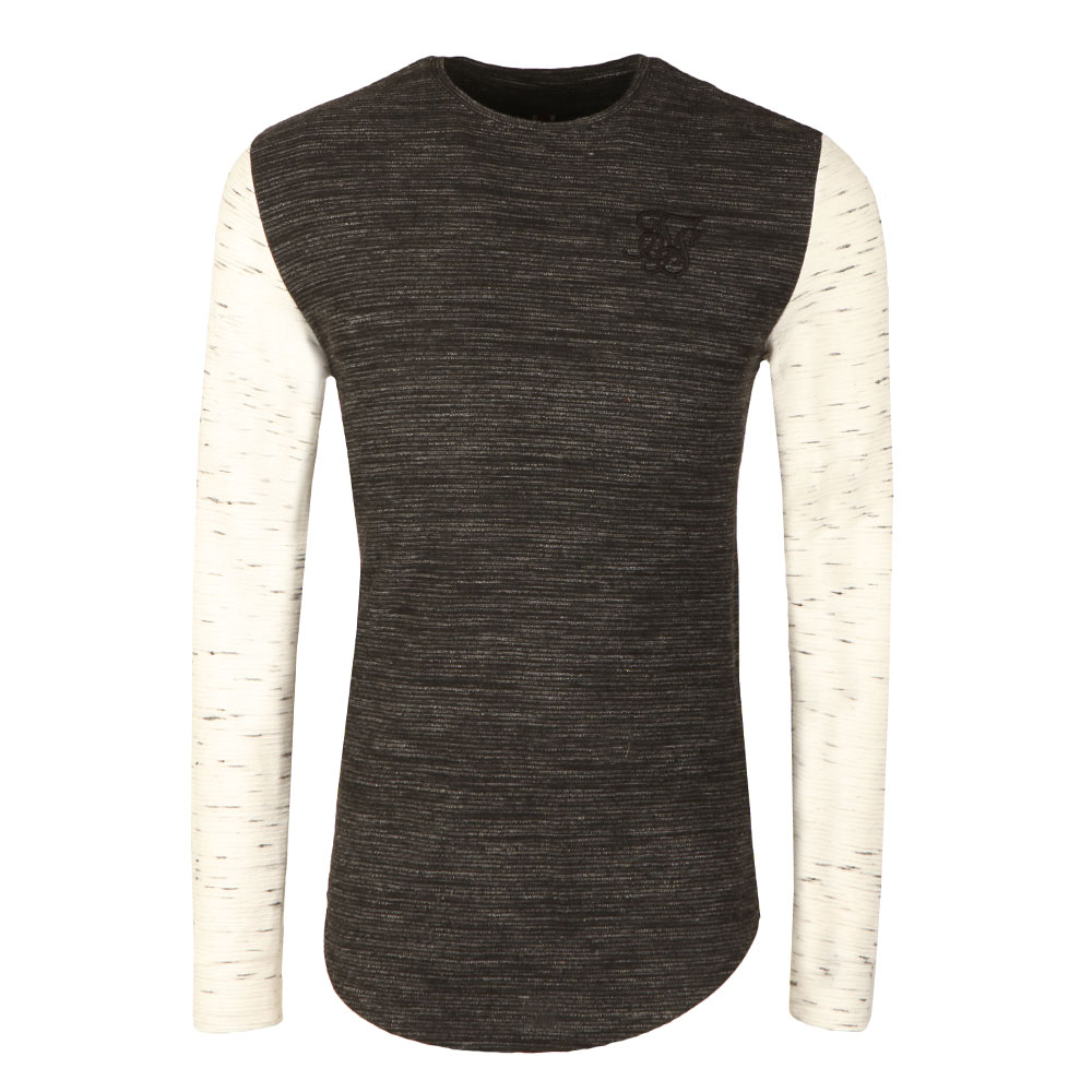 Inject Waffle Contrast Sleeve Gym T Shirt