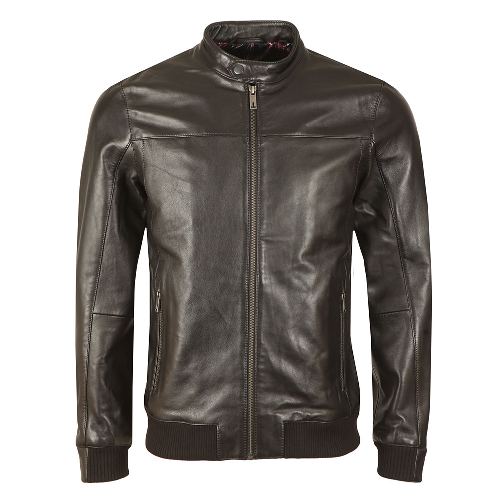65b4918ef388 Ted Baker Leather Bomber Jacket