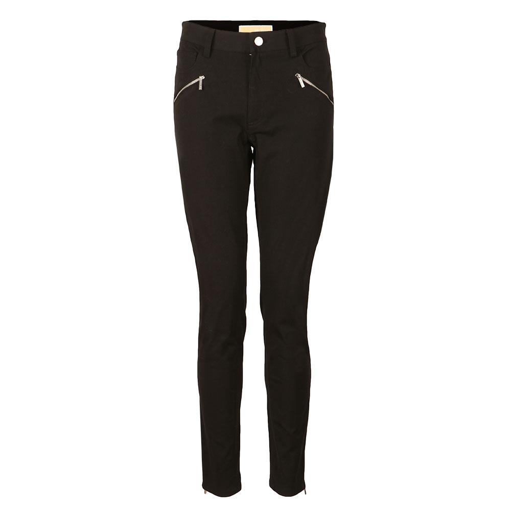 Hi Rise Zip Pocket Skinny Trouser