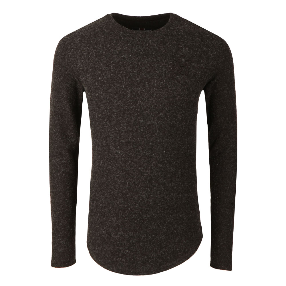 Long Sleeve Curved Hem Knitted T Shirt