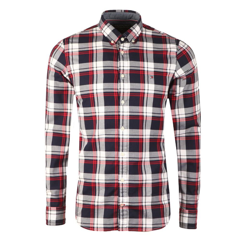8c95703f Tommy Hilfiger Mens Multicoloured L/S Check Shirt main image. Loading zoom