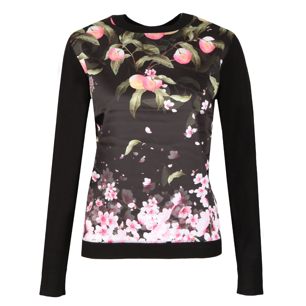 Anthya Peach Blossom Woven Front Jumper