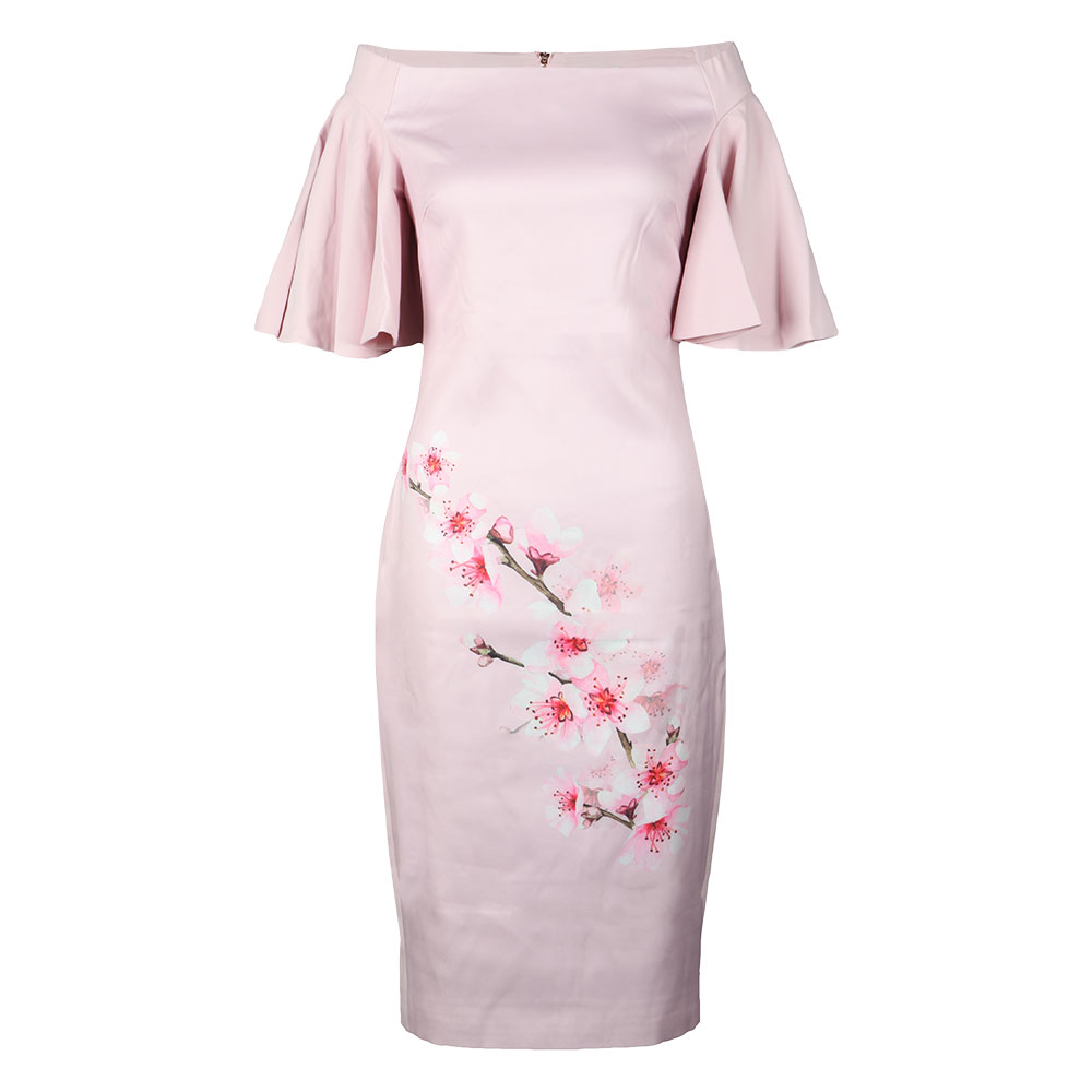 Calinda Soft Blossom Bardot Dress
