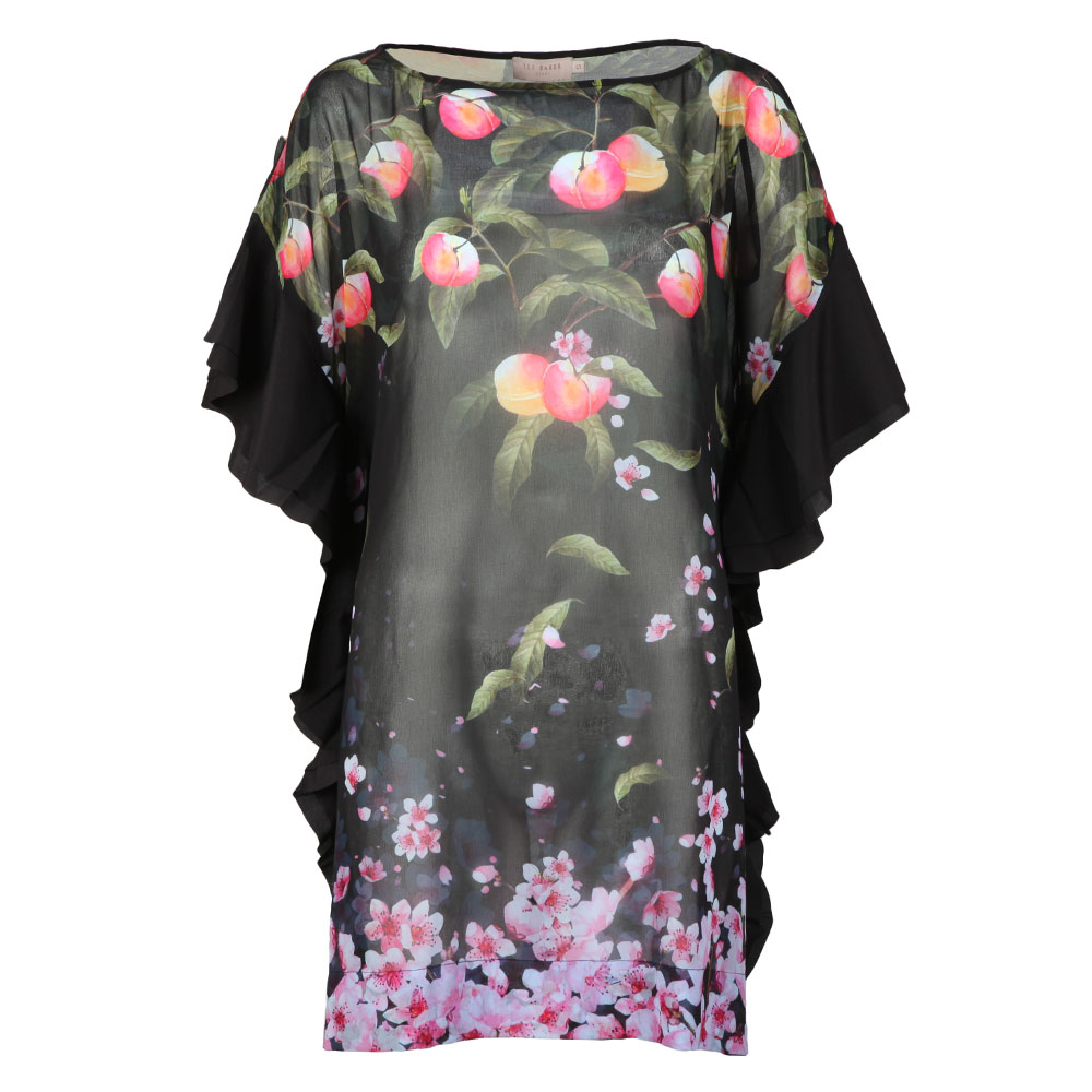 3425761ac Ted Baker Womens Black Twisela Peach Blossom Square Cover Up