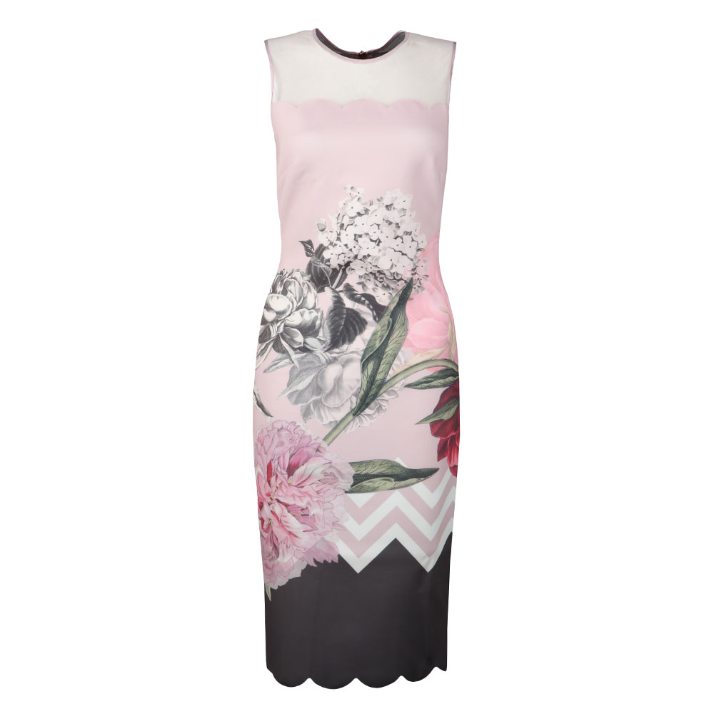 Arionah Palace Gardens Scallop Bodycon