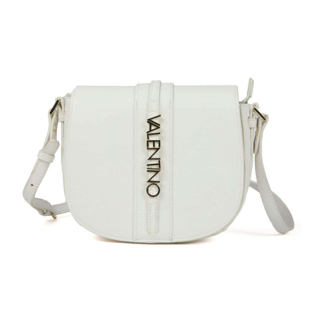 Valentino By Mario Sea Satchel In 'black' Is A Rounded Bag That Displays Silver Valentino Hardware To The Front And Features A Long Shoulder Strap For Casual Use. Approx: H: 19cm X W: 22cm X D: 7cm