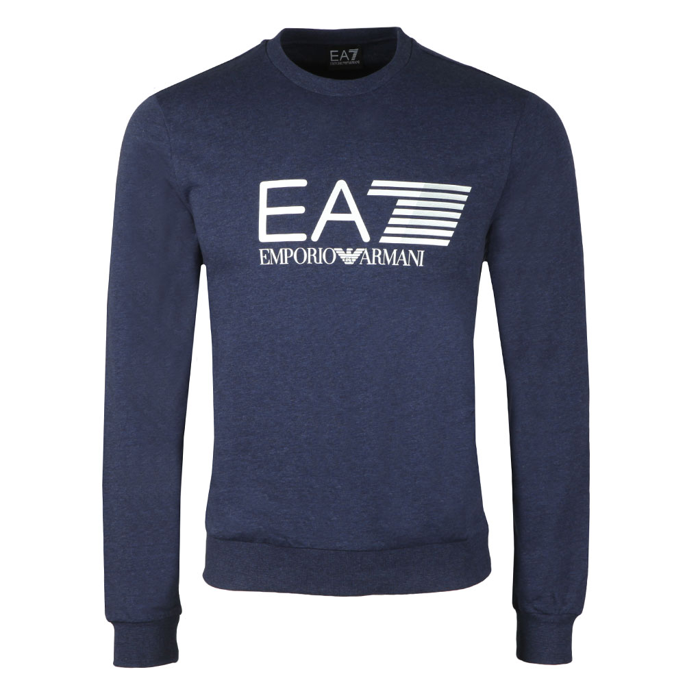 EA7 Emporio Armani Marl 7 Lines Crew Sweat   Masdings 1d993f5fe62a