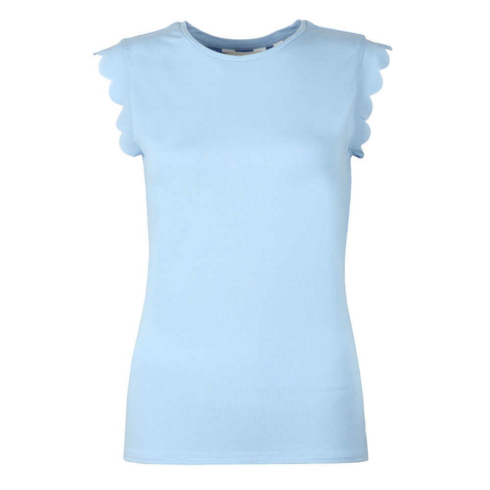 727a7667a8a5cd Ted Baker Womens Blue Elliah Scallop Detail Fitted Tee main image. Loading  zoom