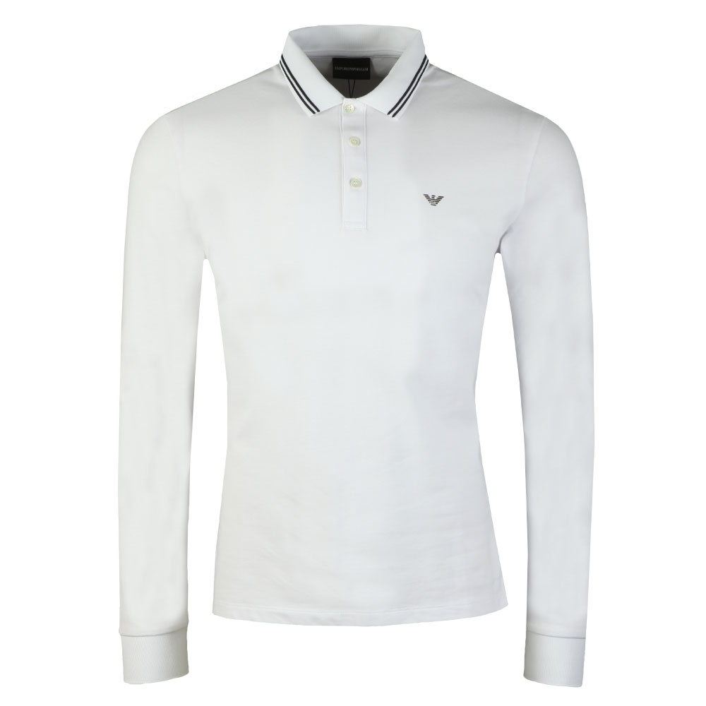 8N1F36 Tipped Long Sleeve Polo