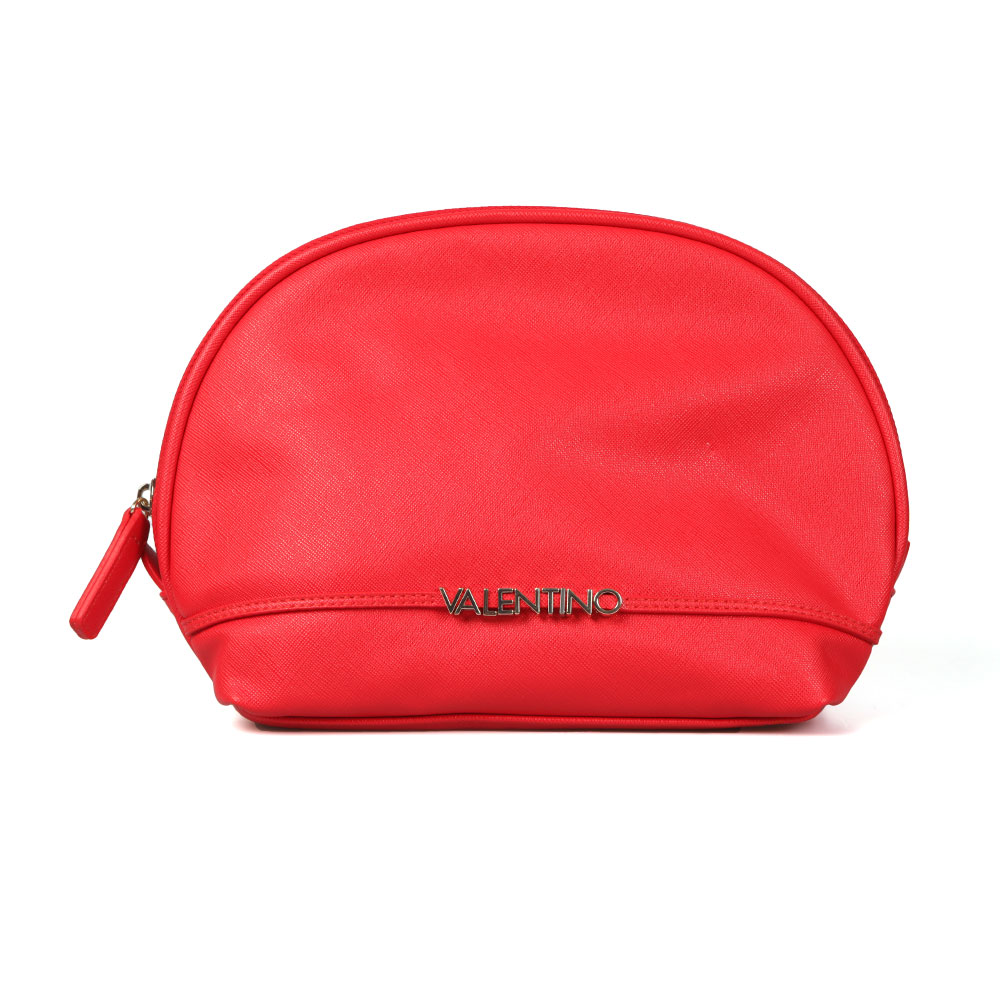 Valentino by Mario Sea Soft Cosmetic Case in 'red' is perfect for storing all makeup essentials and displays raised Valentino lettering to the front. Approx: H: 19cm x W: 27cm x D: 10cm