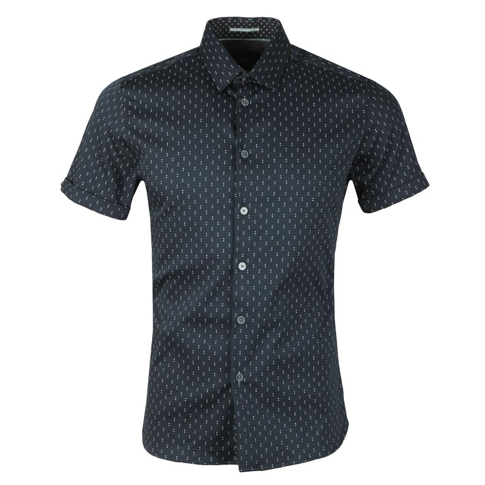 Franko S/S Print Textured Shirt