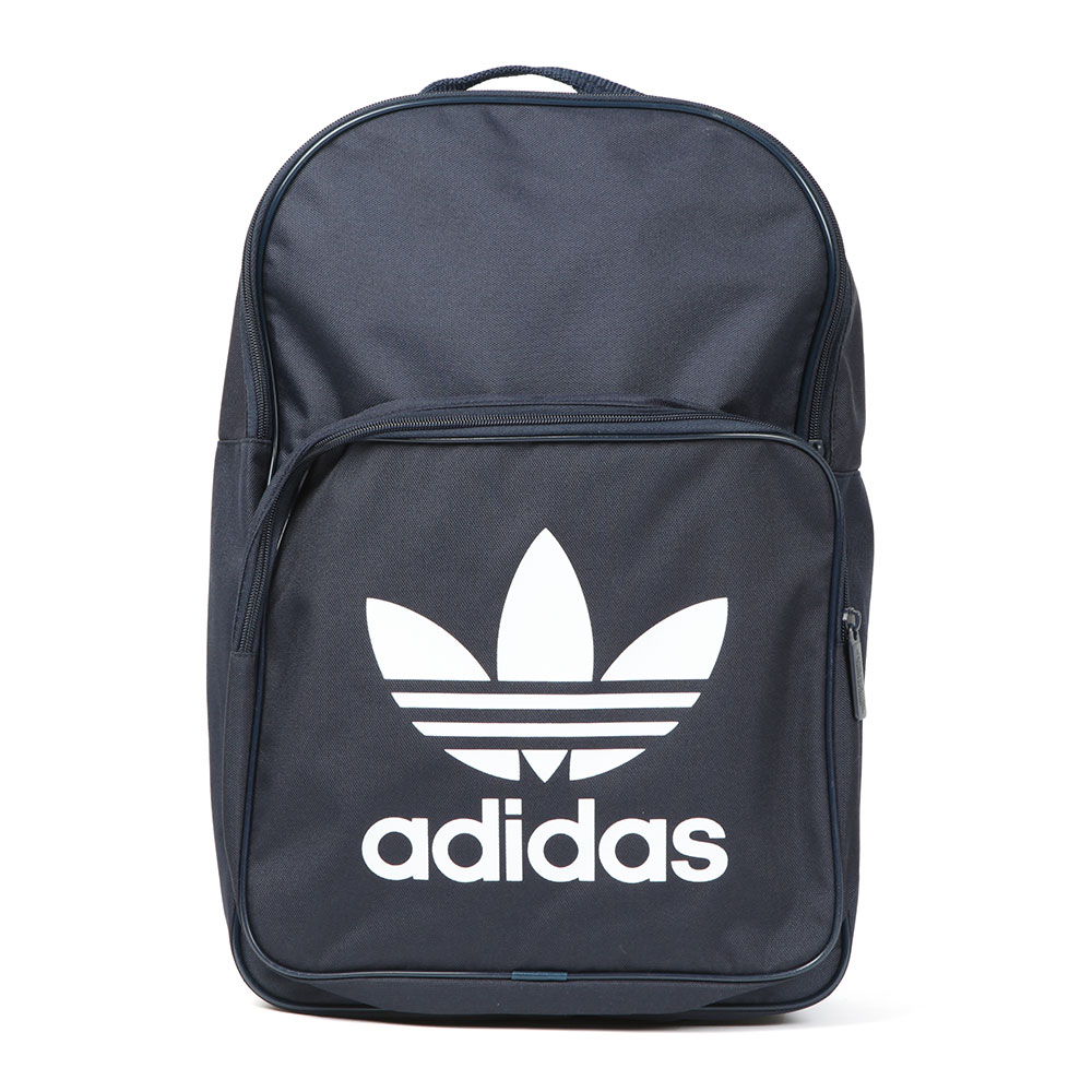 Adidas Originals BK7125 Backpack, in Conavy/White. With padded shoulder straps, top loop handle carry and a zip entry to the main and front pocket. Slip in laptop pocket and finished with the Trefoil logo printed to the front.