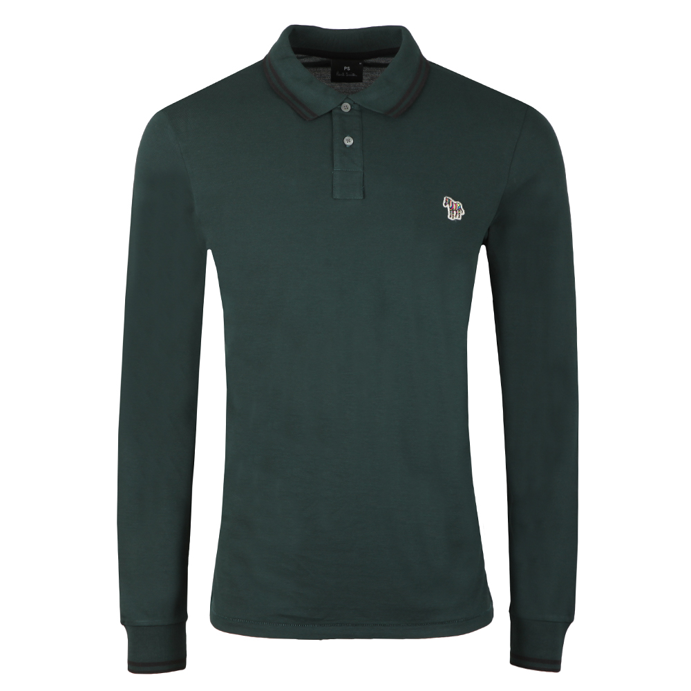 L/S Tipped Polo Shirt