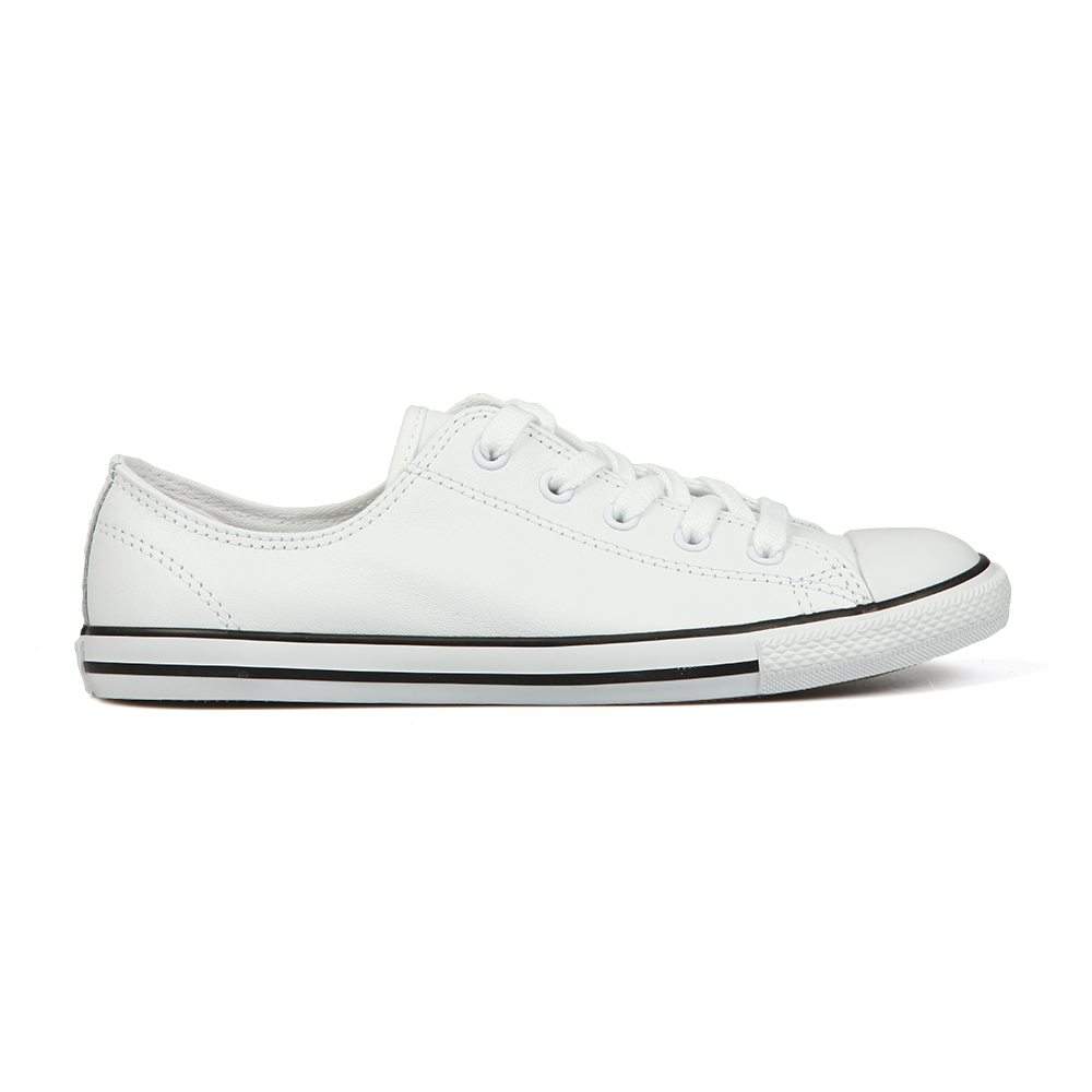 591ceb5396dd Converse Womens White CT Dainty Leather Ox