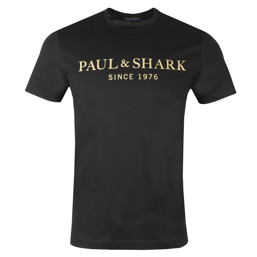 Gold Logo Shark Fit T Shirt