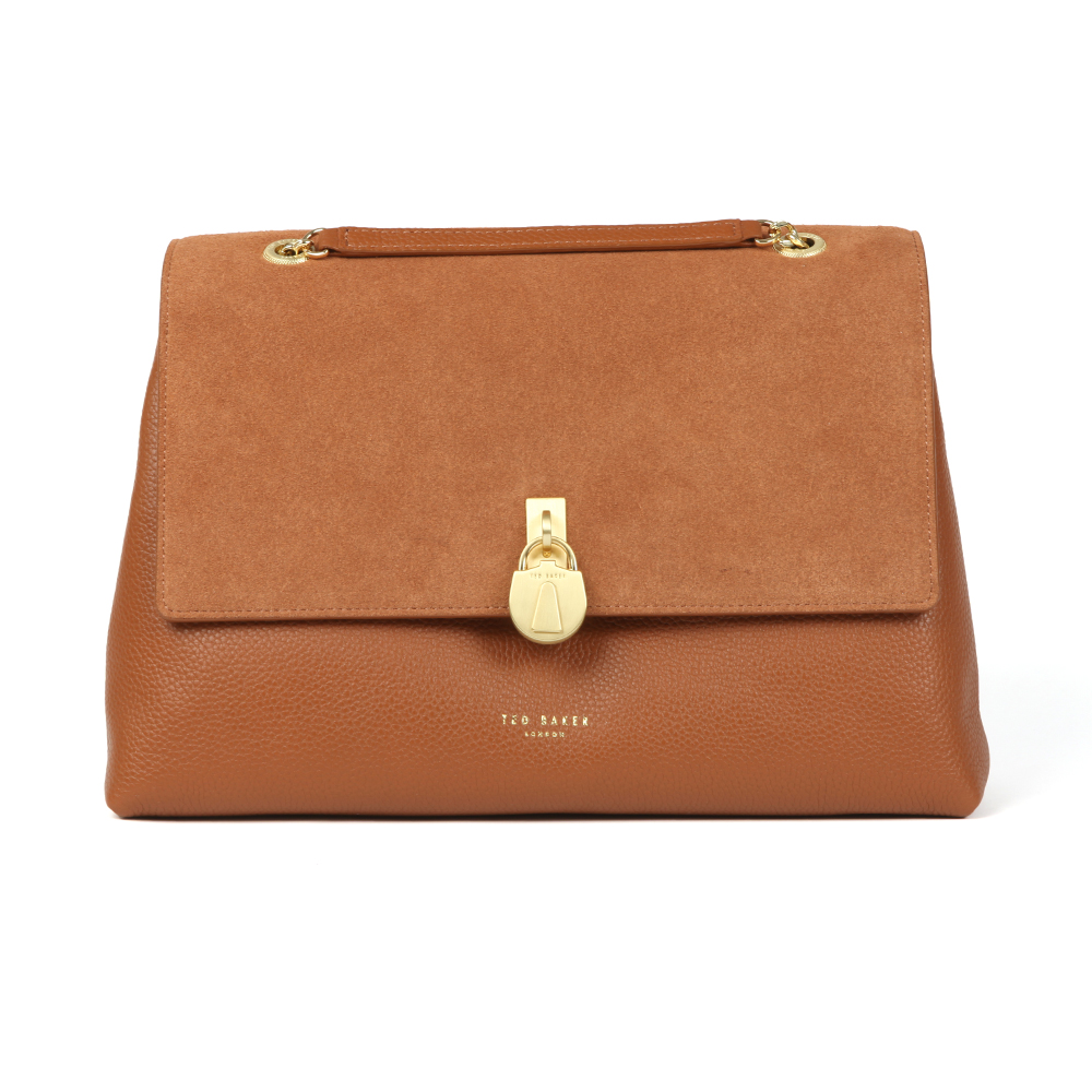 Hermiaa Suede Padlock Shoulder Bag