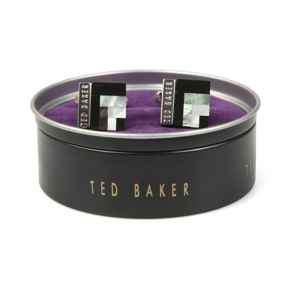 Ted Baker Shell Cufflink, the perfect way to finish of your outfit, these embossed cuff links bring style to any shirt you choose to wear. With the iconic Ted Baker London logo engraved on and a classic t-bone fastening.