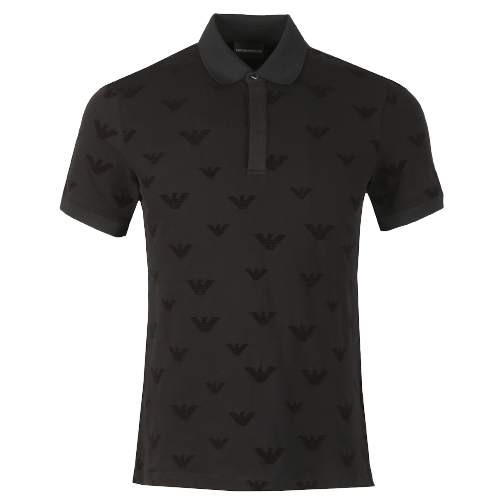 Allover Velour Eagle Polo Shirt