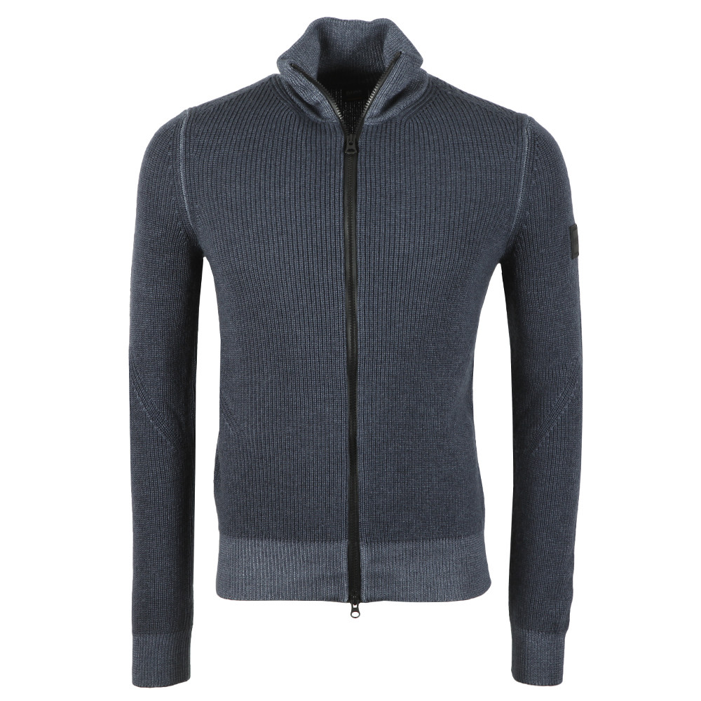 Afurly Full Zip Knitted Jumper