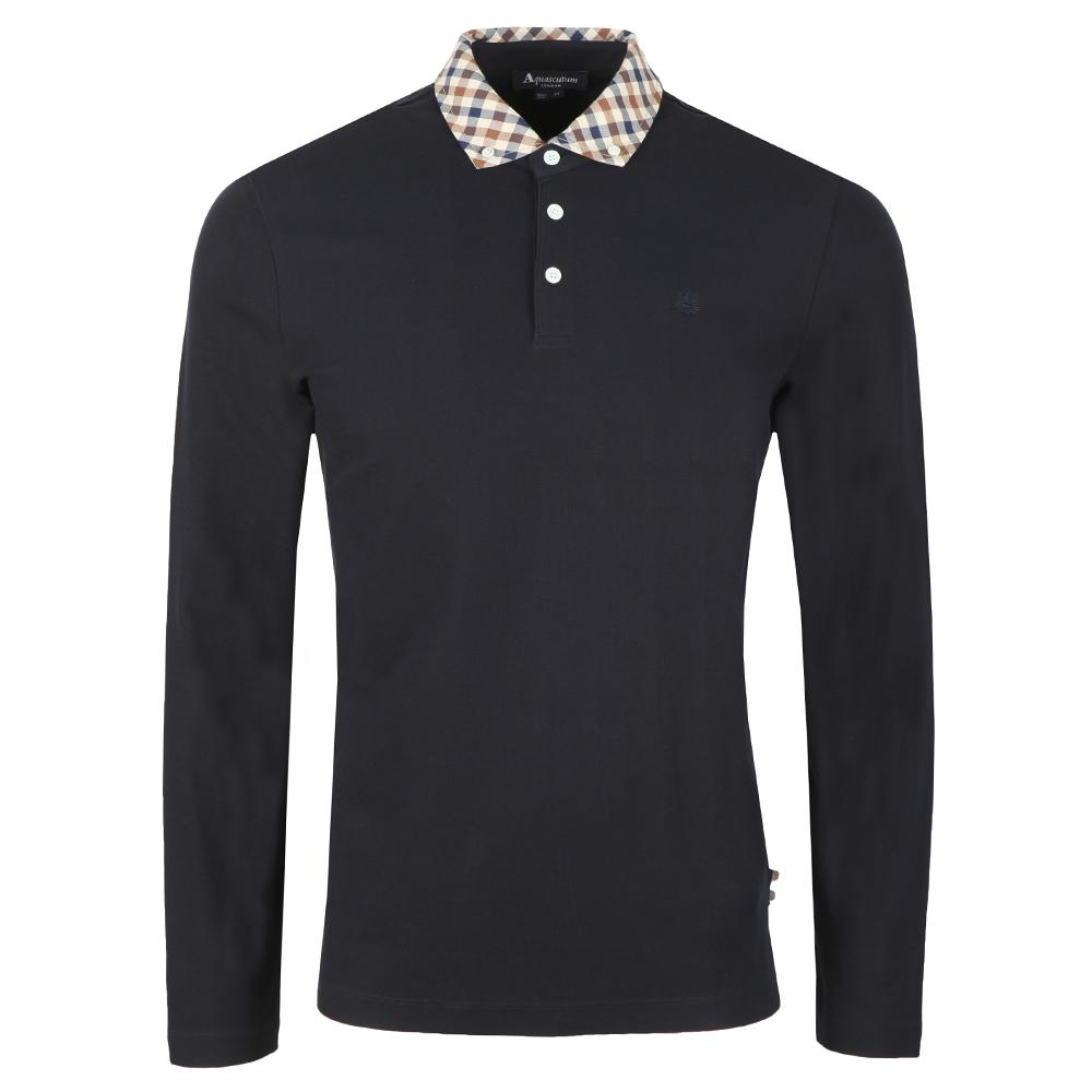 Coniston Long Sleeve Club Check Collar Polo
