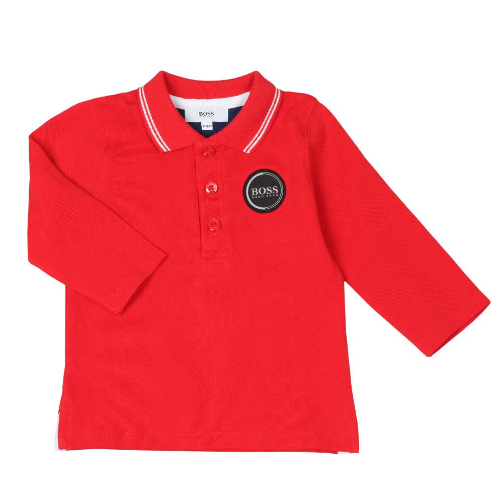Baby Circle Logo Long Sleeve Polo Shirt