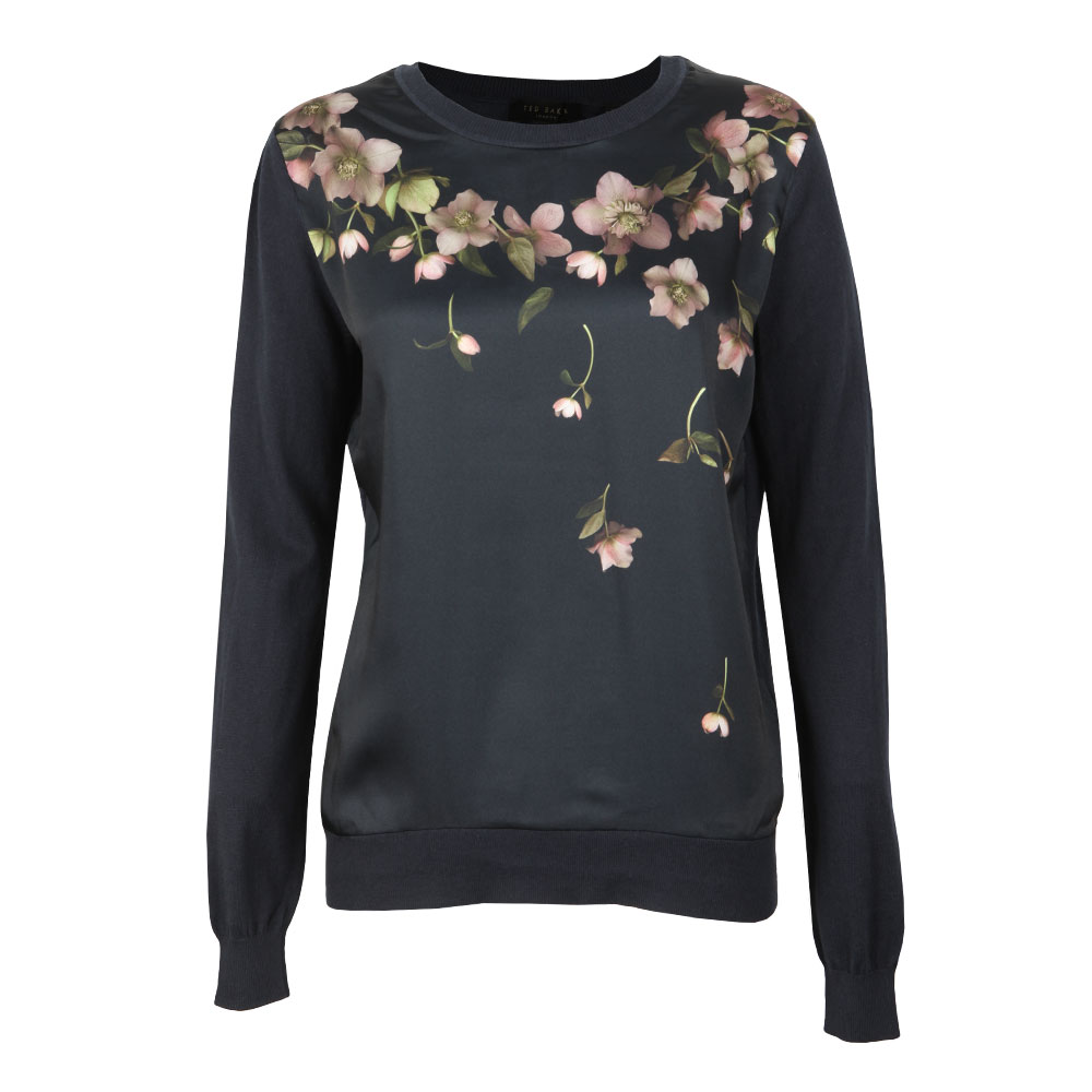 2cce82d301bb66 Ted Baker Womens Blue Sowfiee Arboretum Woven Front Knit main image. Loading  zoom