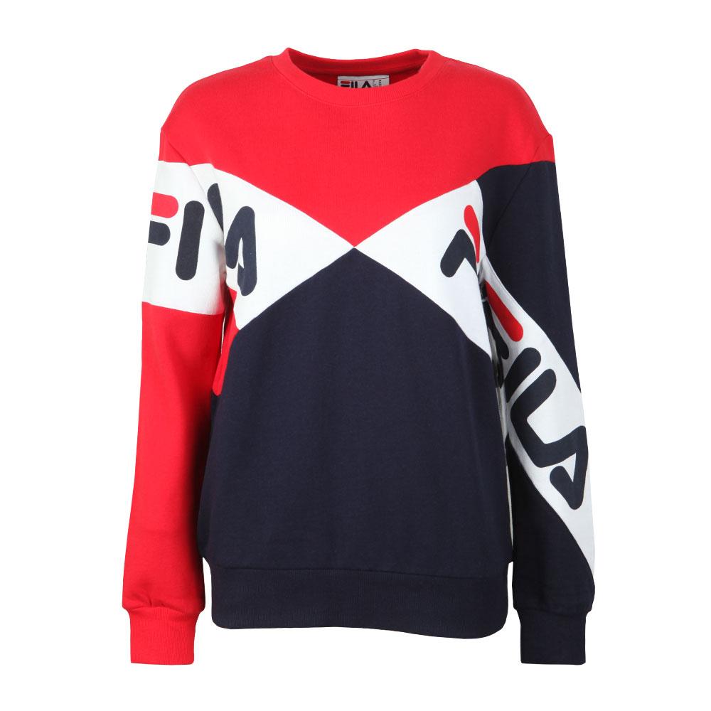 002b755e9b93 Fila Womens Red Lidia Cotton Blend Sweatshirt