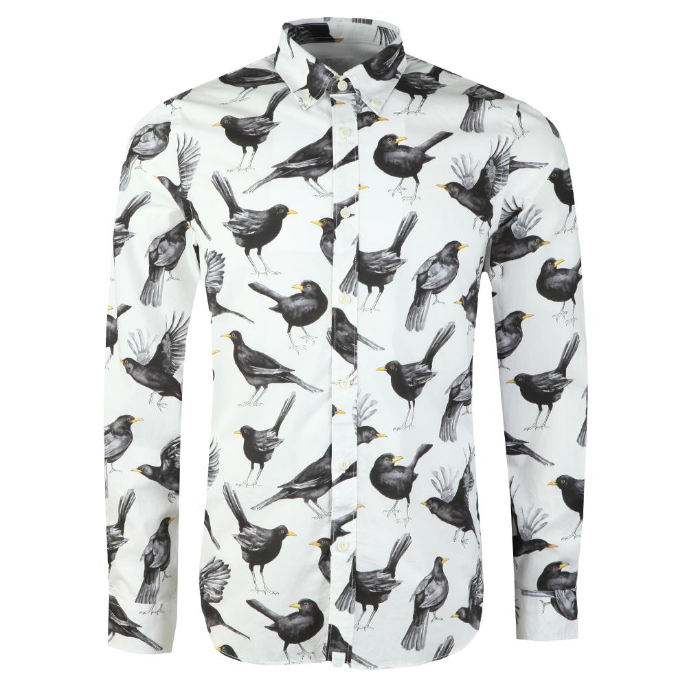 Beatles Blackbird Print Shirt