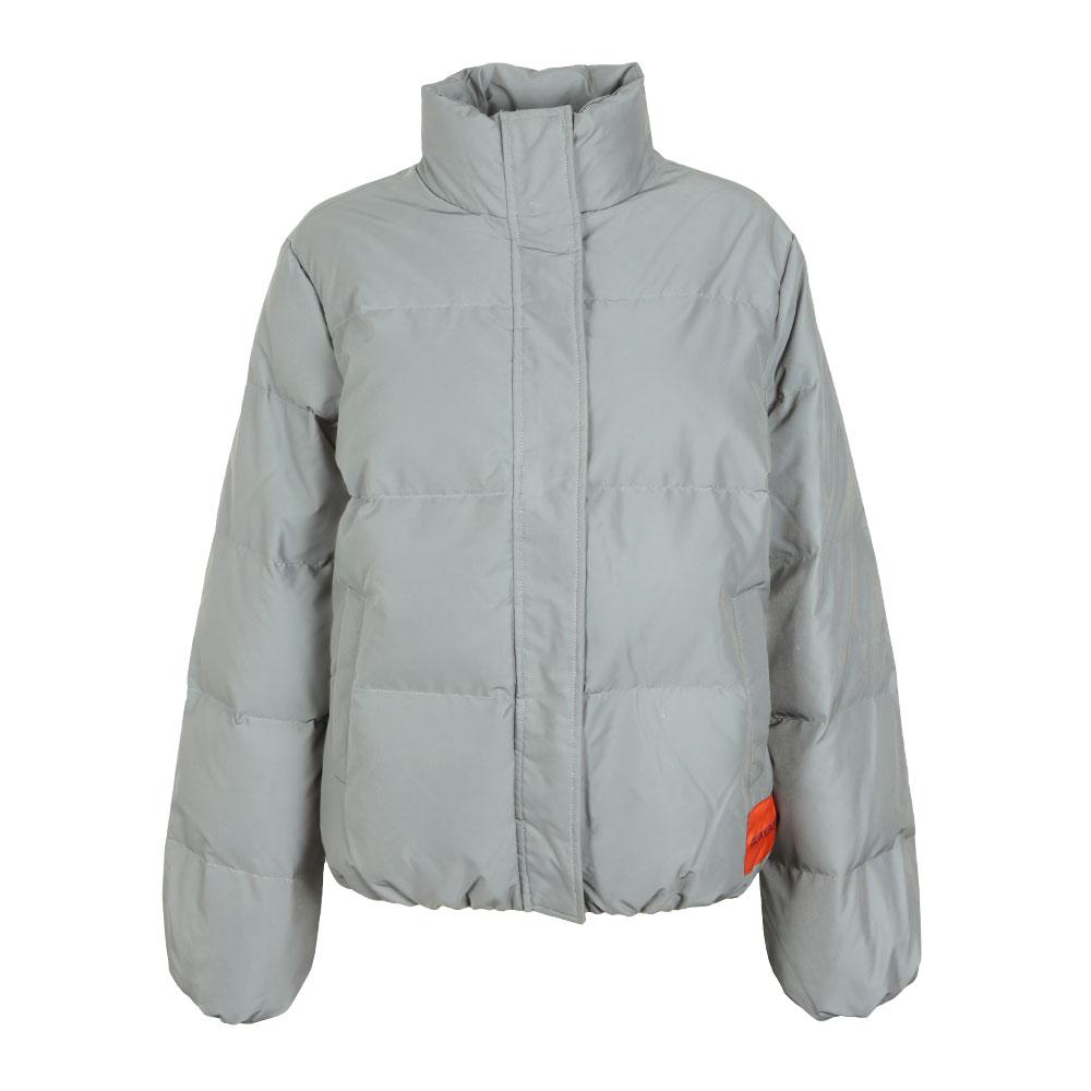 0faba10102dc Calvin Klein Jeans Womens Silver Down Reflective Short Jacket