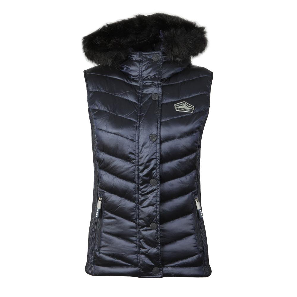 Luxe Chevron Double Zip Vest