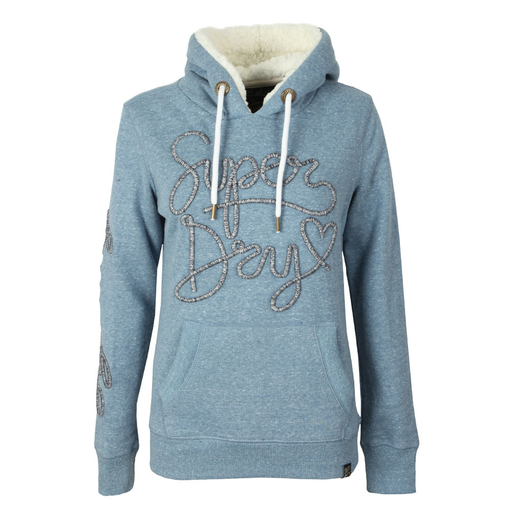 American Girl Applique Borg Hoodie