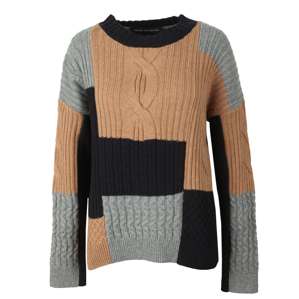 Amie Patch Knit Cable Jumper