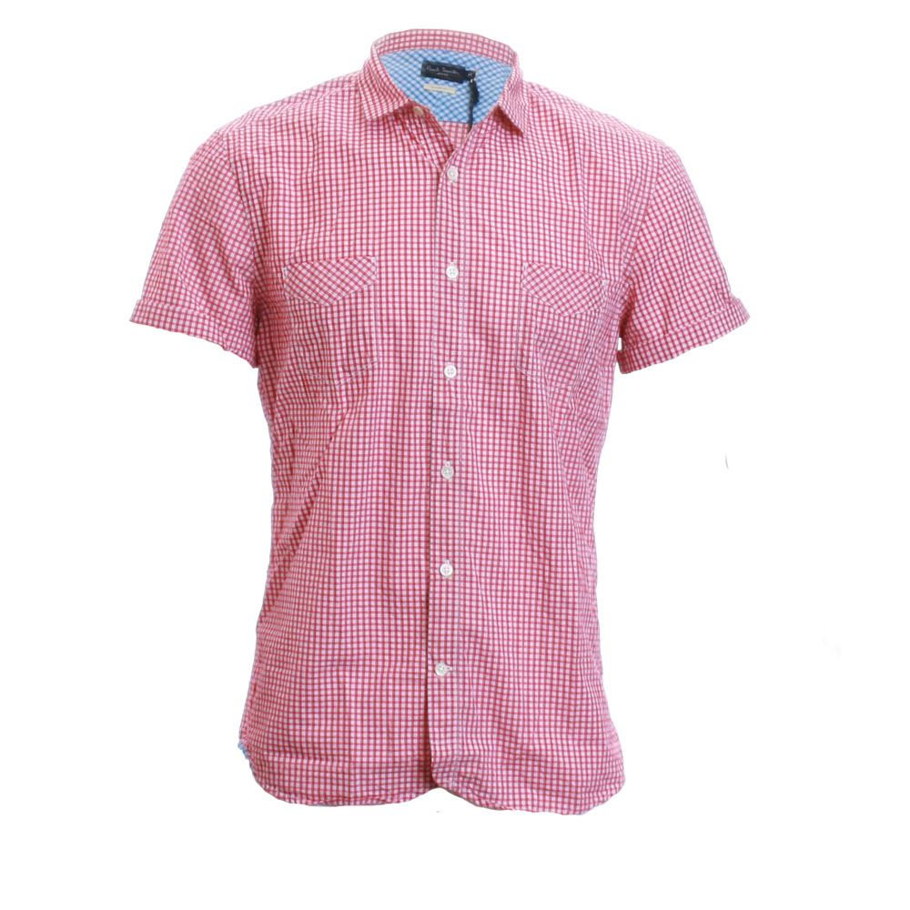 Paul Smith 756K Small Red Check Shirt main image