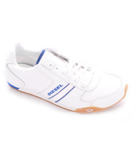 Diesel Loop White/Blue Trainer