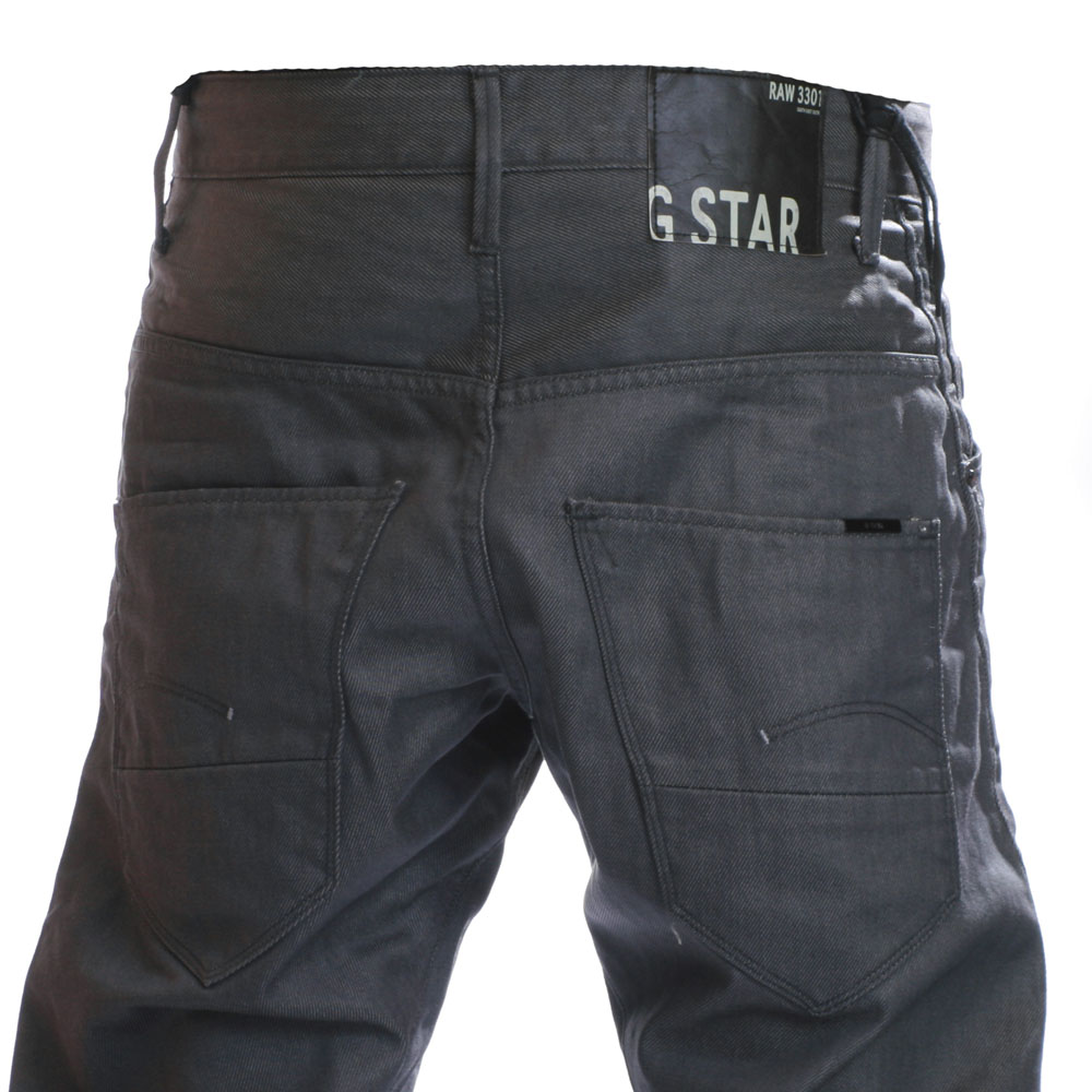 g star arc loose crushed grey tapered jeans oxygen clothing. Black Bedroom Furniture Sets. Home Design Ideas