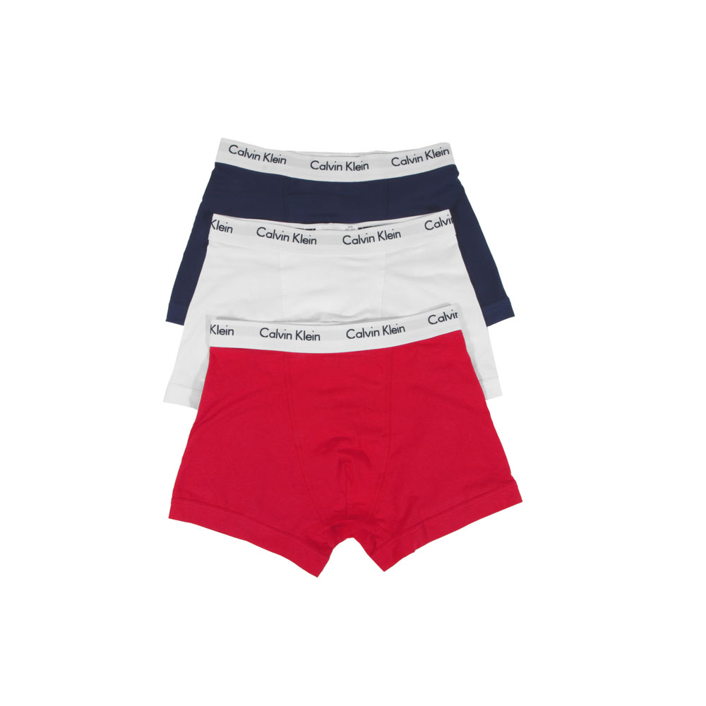 Calvin Klein WhiteRedNavy 3 Pack Trunks