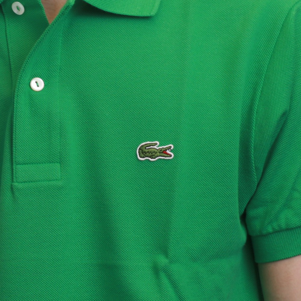 Lacoste l1212 coriandre plain polo shirt oxygen clothing for Lacoste poloshirt weiay
