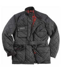 Barbour Black Quilted International Jacket