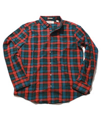 Penguin Red Pepper LS Woven Bold Check Shirt