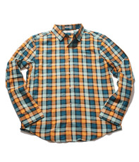 Penguin Dark Cheddar LS Woven Bold Check Shirt
