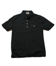 Penguin Black Plain Jersey Polo
